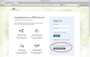 FamilSearch Sign In