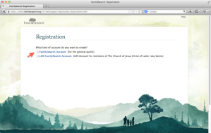 FS Registration Page