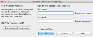 Sign In to FamilySearch Indexing