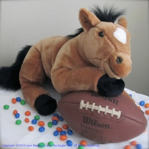 A horse and his football WP