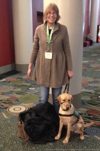 Dune, a service dog in training, and her family. It was a delight to meet so many furfriends and their families at RootsTech 2014!