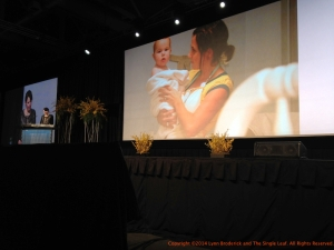 Stephanie Nielsen of the Nie Nie Dialogues and Heaven is Here addresses her audience at RootsTech 2014