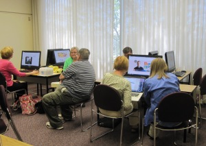 The onsite computer lab houses eight computers for use by conference participants. Many more are available at the BYU Family History Library.