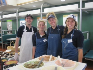 An appreciation shoutout to Nate, Brianna, Abby, and Isabell (and others) who host conference participants at the Morris Center cafeteria :)