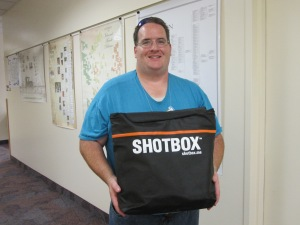 SHOTBOX [Kent Gardner won this at the Vendor Prize Drawing yesterday.]